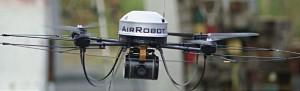 US-Drohne AirRobot, wie sie z.B. von der niederländischen Polizei eingesetzt wird. (Quelle: blog.kairaven.de)