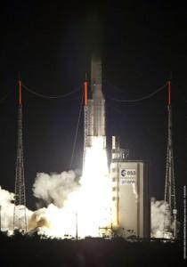 Start einer Ariane 5 Rakete (Quelle: DLR)