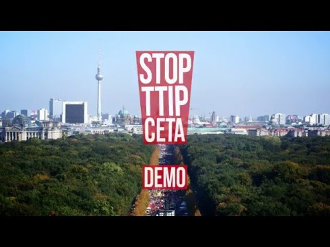 250 000 demonstrieren in Berlin TTIP & CETA STOPPEN! 10 Oktober 2015 YouTube 720p