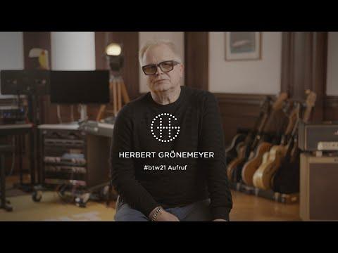 Herbert Grönemeyer Aufruf #btw21