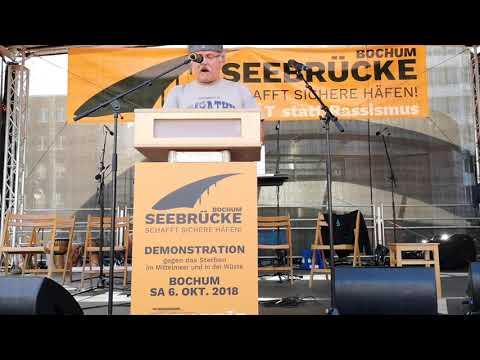 Seebrücke Bochum: Udo Siefen (Sea-Watch) // Demo 06.10.2018