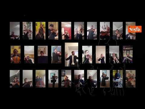 """Il Teatro Nazionale serbo suona """"Bella Ciao"""" in videocall"""