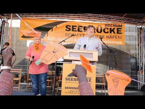Seebrücke Bochum: Forderungen (Demonstration am 6.10.2018)