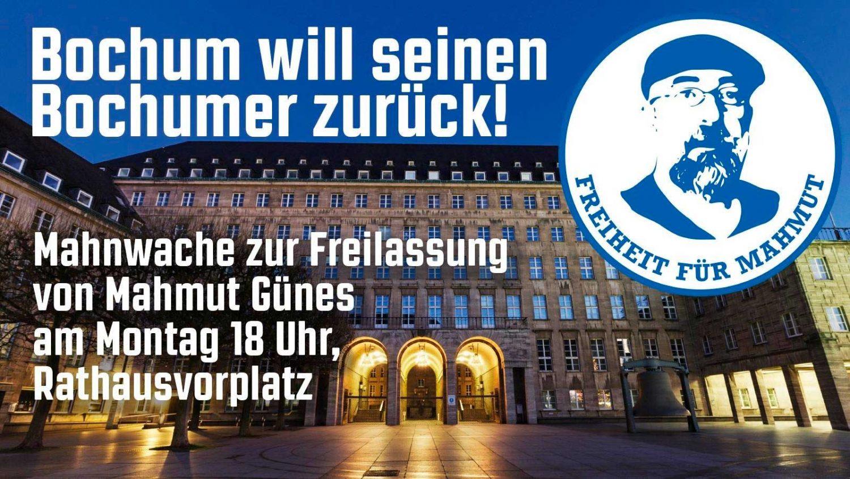 Mahnwache für den Bochumer Mahmut Günes - Montag, den 11.10.2021 um 18 Uhr